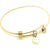 Coorabell Crafts Rose Gold Bangle with Sterling Silver heart charm