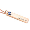 Rose Gold Birthstone Bar Necklace