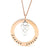Coorabell Crafts Rose Gold Circle Pendant with Sterling Silver Love Heart Infinity Charm