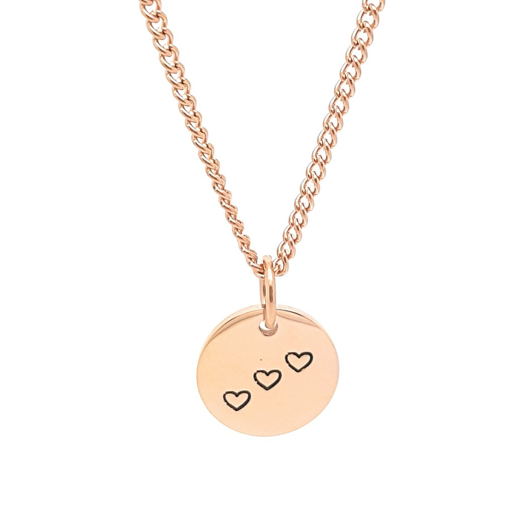 Coorabell Crafts Rose Gold Minimalist Disk Necklace
