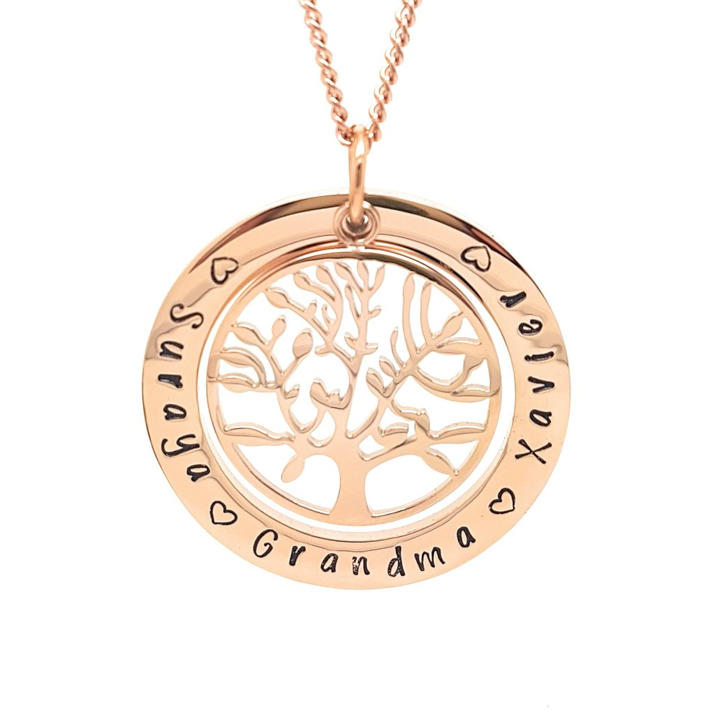 Coorabell Crafts Rose Gold Personalised Family Necklace