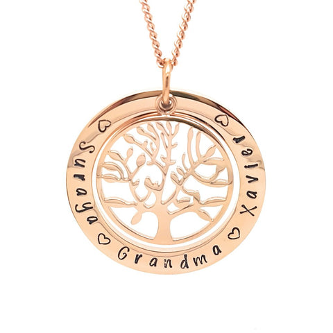 Rose Gold Personalised Family Necklace