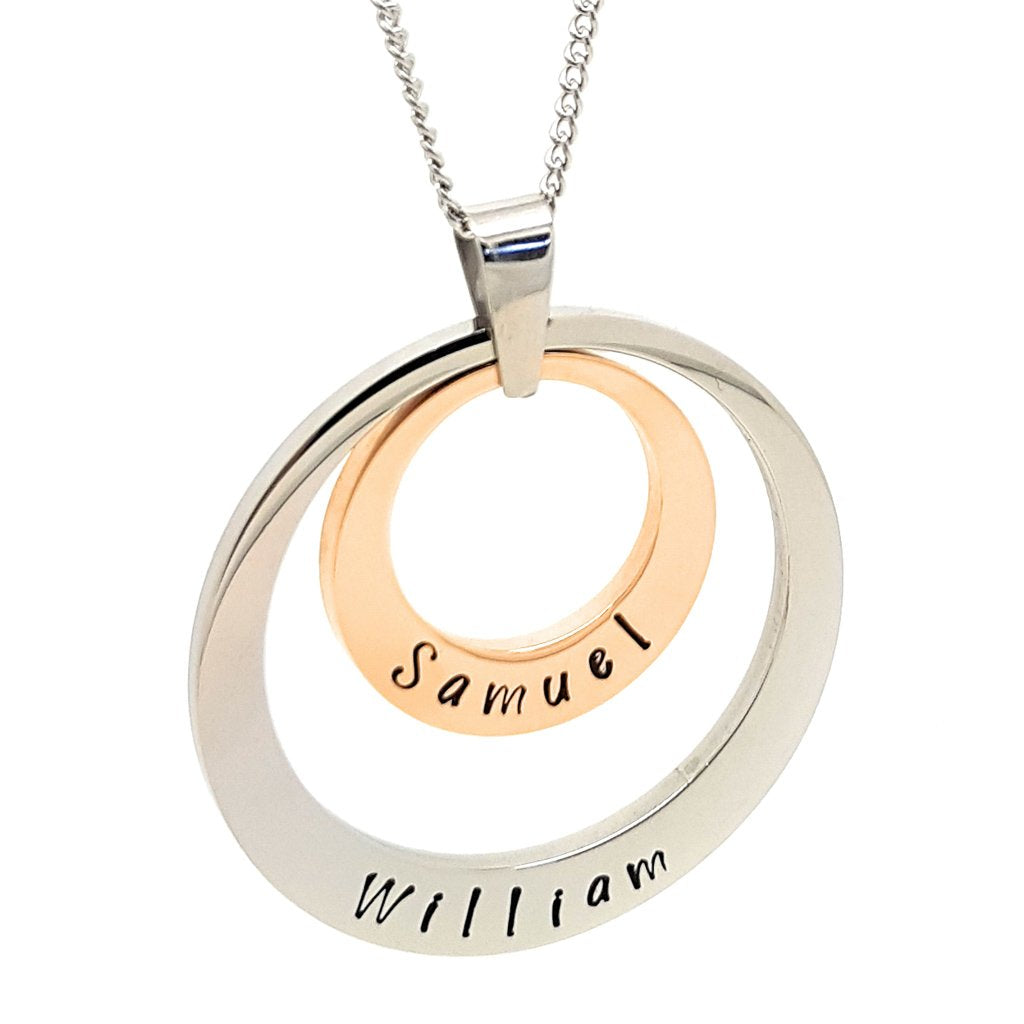 Coorabell Crafts Rose Gold & Silver Family Pendant