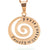 Coorabell Crafts Rose Gold Spiral Wave Necklace
