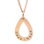 Coorabell Crafts Rose Gold Tear Drop Pendant