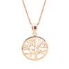 Rose Gold Tree of Life Charm Necklace