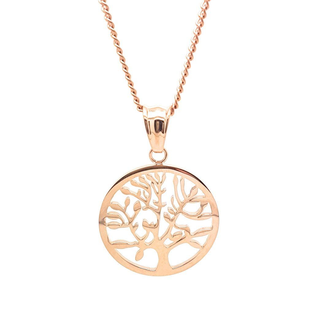 Coorabell Crafts Rose Gold Tree of Life Charm Necklace