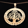 Rose Gold Tree of Life Pendant Personalised
