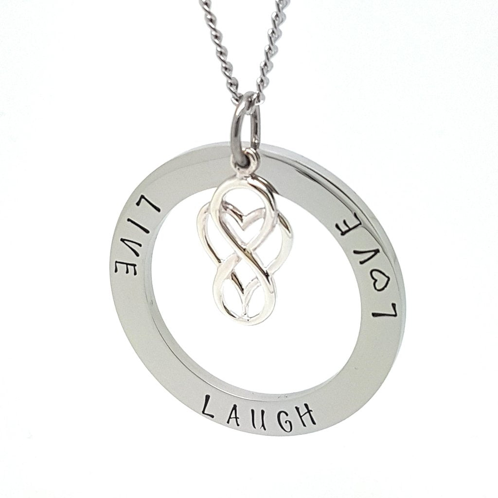 Coorabell Crafts Round Personalised Necklace Pendant