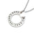 Coorabell Crafts Silver Circle Pendant Heart charm