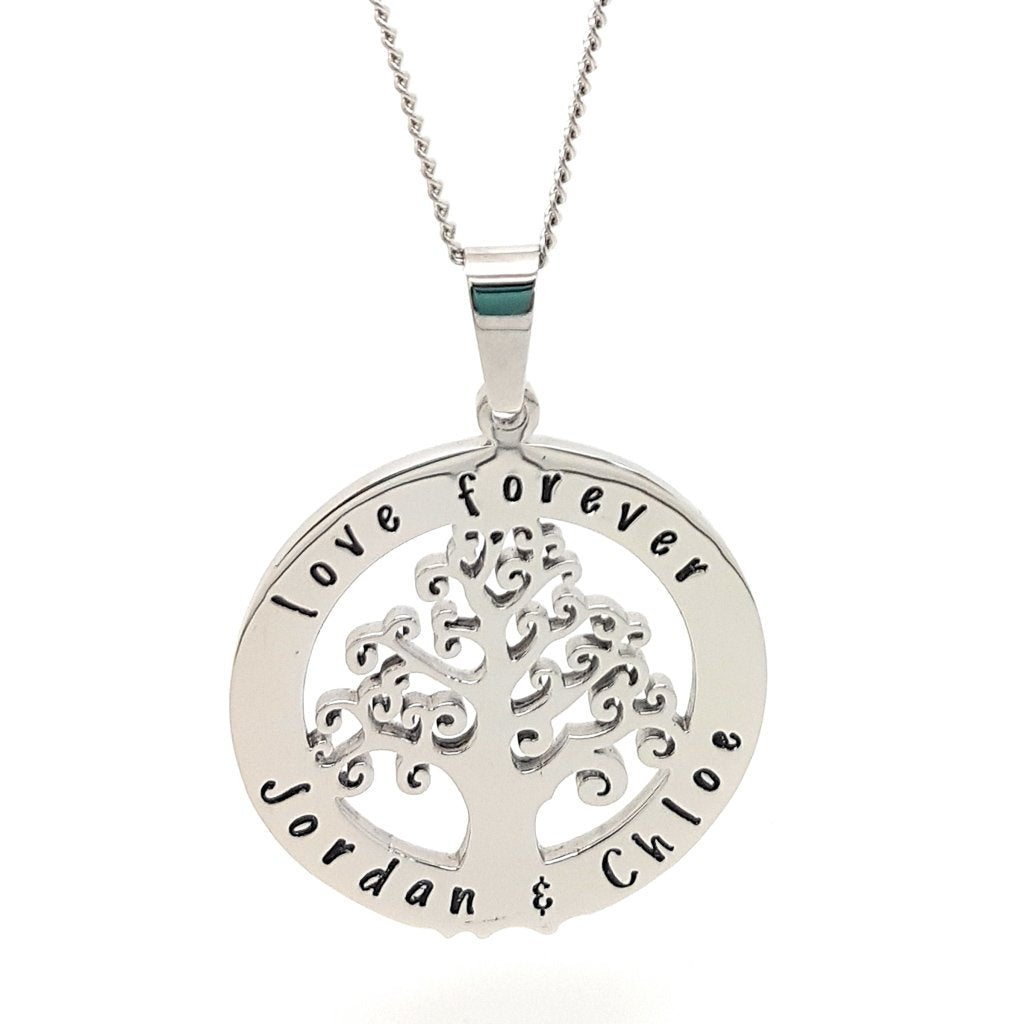 Coorabell Crafts Silver Circle Tree of Life Pendant