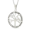 Silver Oval Tree Affirmation Pendant