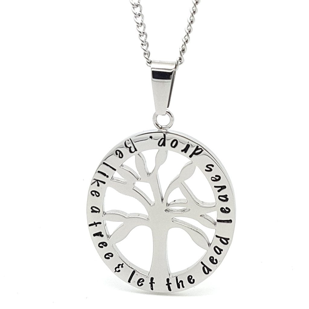 Coorabell Crafts Silver Oval Tree Affirmation Pendant