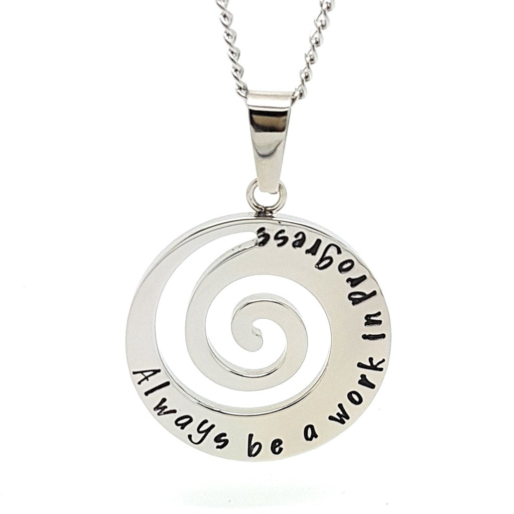 Coorabell Crafts Silver Spiral Wave Pendant