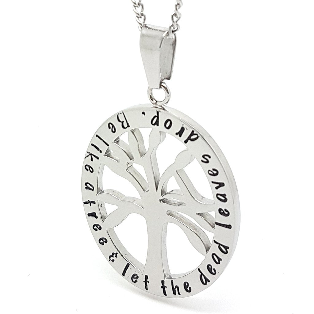 Coorabell Crafts Silver Tree of Life Affirmation Pendant