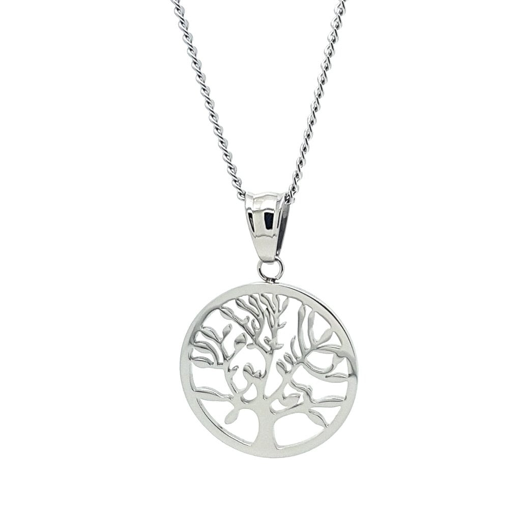 Coorabell Crafts Silver Tree of Life Circle Pendant