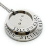 Silver Two Ring Name Necklace