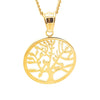 Simplicity Gold Tree of Life Charm necklace