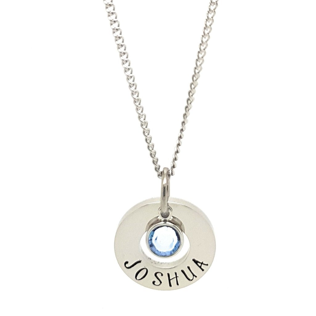 Coorabell Crafts Small Birthstone Name Necklace
