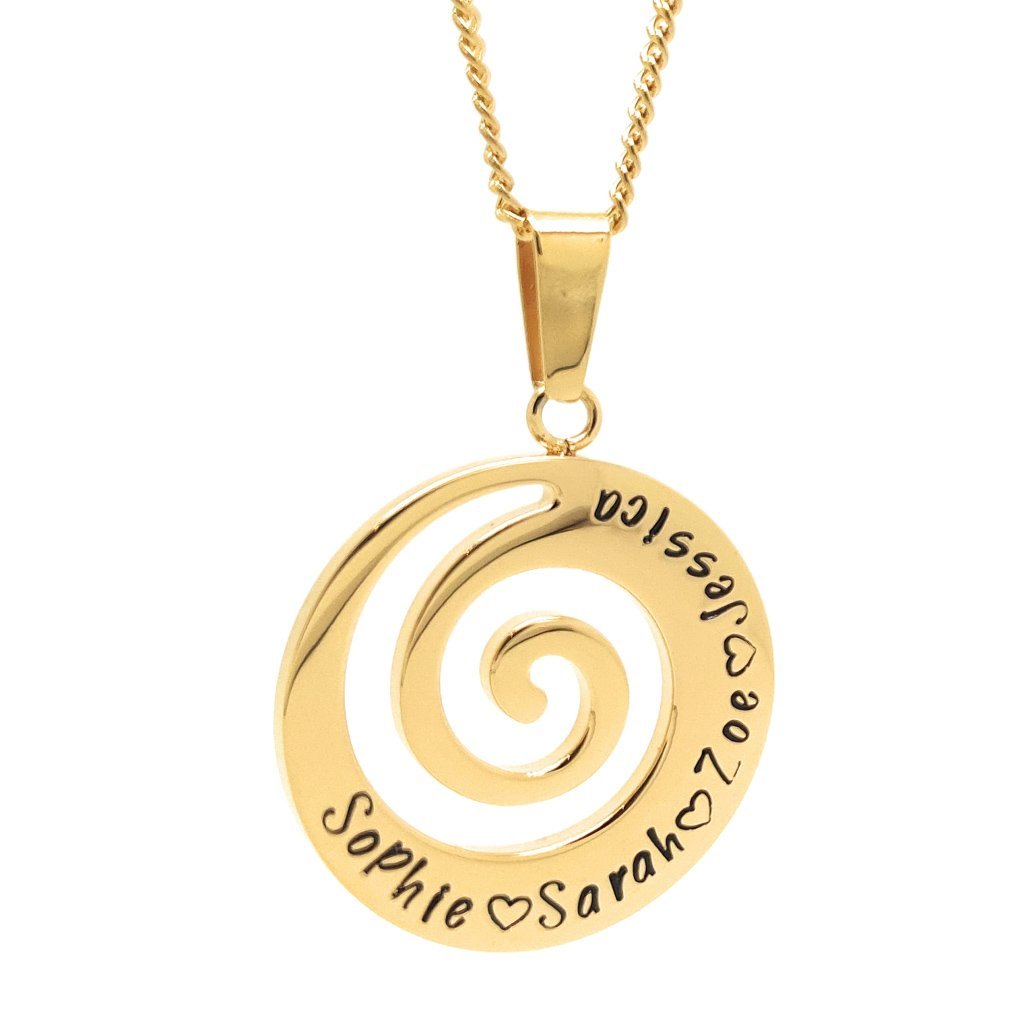 Coorabell Crafts Spiral Wave Pendant Personalised