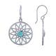 Coorabell Crafts Sterling Silver Flower Earrings With Howlite Turquoise
