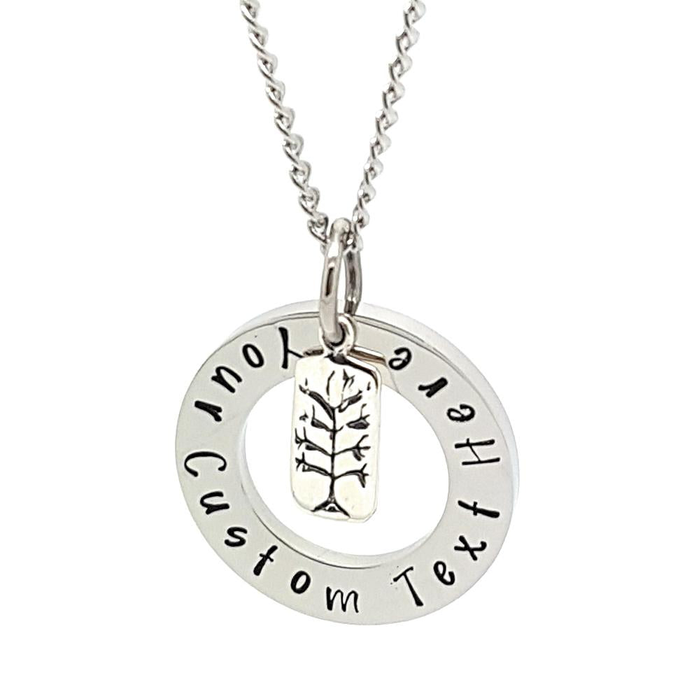 Coorabell Crafts Tree Charm Personalised Necklace