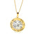 Coorabell Crafts Two-tone Gold and Silver with Filigree Flower Pendant