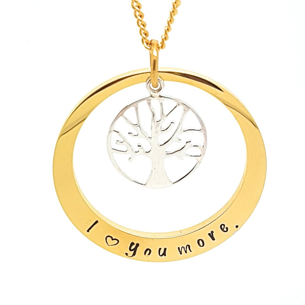 Coorabell Crafts Two Tone Personalised Tree Necklace