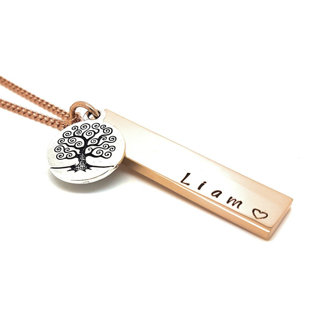 Coorabell Crafts Verticle Bar Pendant with Tree Charm