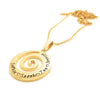 Coorabell Crafts Wave Spiral Gold Pendant