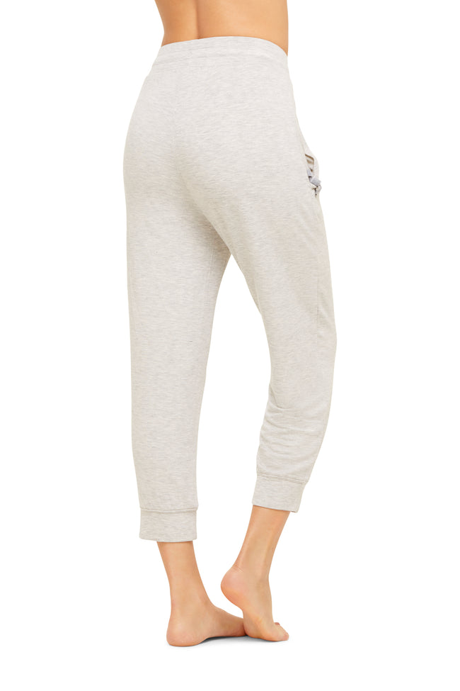 French Terry Crop Jogger | Soft Women Sleep Pants / Bottoms | Lounge&Sleepwear