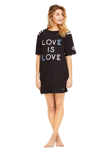 Graphic Sleep Shirt | Women Long Sleeve Dress / Casual Loose Tunic