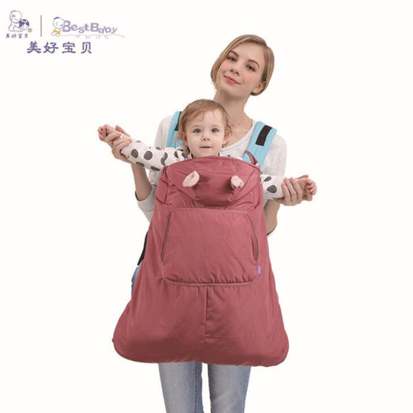 Baby Carrier Cloak Velvet Winter Warm Waterproof
