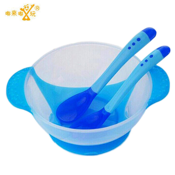 Baby Learnning Dishes With Suction Cup Assist food Bowl