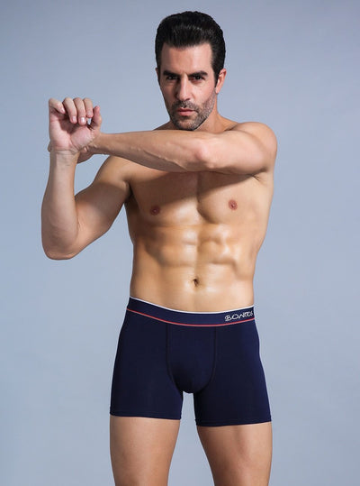 Men's Comfortable Mid Waist Boxer Briefs Underwear