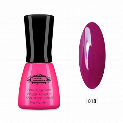 Gel Nail Polish UV Cured Long Lasting Up to 30 days Gel Lacquer Soak ...