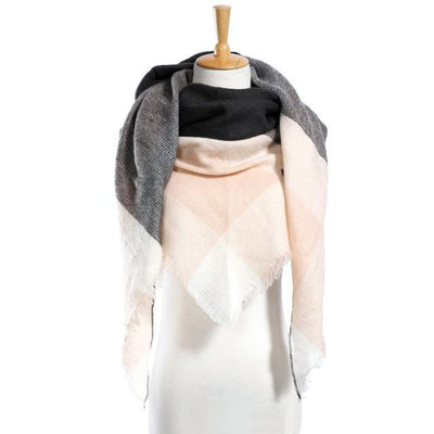 Outlet Appeal 07 Winter Scarf Women Plaid Scarf Designer Triangle Cashmere Shawls Women's Scarves Dropshipping VS051