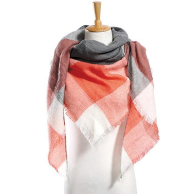 Outlet Appeal 08 Winter Scarf Women Plaid Scarf Designer Triangle Cashmere Shawls Women's Scarves Dropshipping VS051