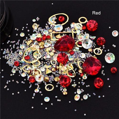 Outlet Appeal 1 Mixed Colorful Acrylic Rhinestones in Alloy Metal Frame DIY Nail Decor Manicure 3D Nail Art