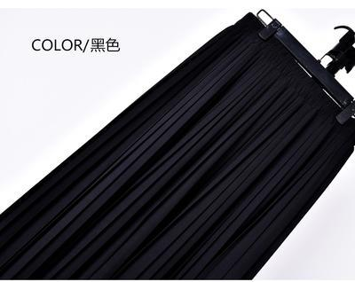 Outlet Appeal 1 / S 22 Colors Super Pleated Chiffon Elastic Waistband Mid-Calf to Ankle-Length Skirt