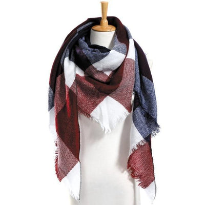 Outlet Appeal 10 Winter Scarf Women Plaid Scarf Designer Triangle Cashmere Shawls Women's Scarves Dropshipping VS051