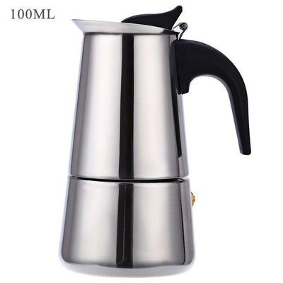 Outlet Appeal 100ML Stainless Steel Coffee Maker Mocha Espresso Latte Stovetop Filter Pot 100ML - 400ML Percolator