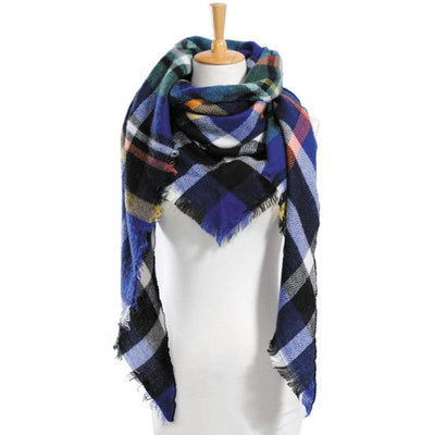 Outlet Appeal 11 Winter Scarf Women Plaid Scarf Designer Triangle Cashmere Shawls Women's Scarves Dropshipping VS051