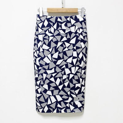 Outlet Appeal 111 / S 27 Patterns Vintage Elegant Floral Print High Waist Midi Pencil Skirt