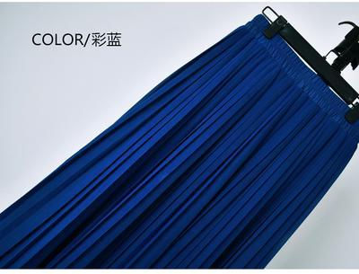 Outlet Appeal 13 / S 22 Colors Super Pleated Chiffon Elastic Waistband Mid-Calf to Ankle-Length Skirt