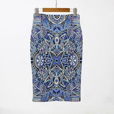 Outlet Appeal 13 / S 27 Patterns Vintage Elegant Floral Print High Waist Midi Pencil Skirt