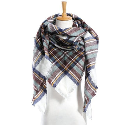 Outlet Appeal 13 Winter Scarf Women Plaid Scarf Designer Triangle Cashmere Shawls Women's Scarves Dropshipping VS051