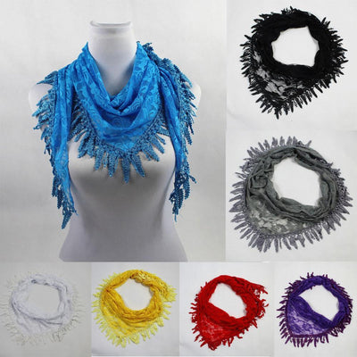 Outlet Appeal 135cm-175cm Women Lady Long Lace Rose Flower Triangular Mantilla Scarf Wrap Shawl bandana
