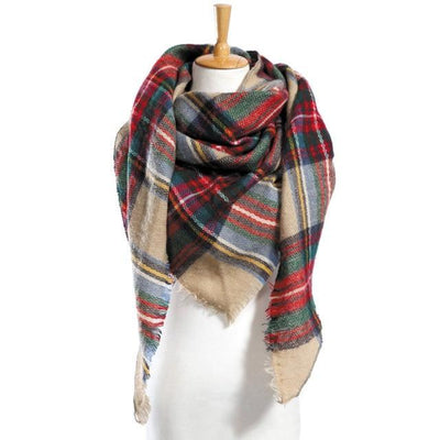 Outlet Appeal 14 Winter Scarf Women Plaid Scarf Designer Triangle Cashmere Shawls Women's Scarves Dropshipping VS051