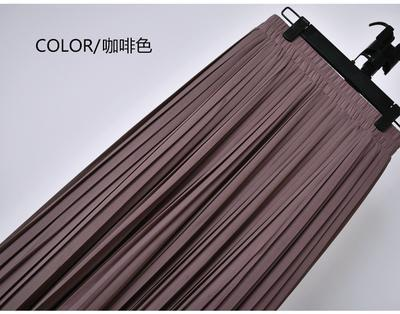 Outlet Appeal 16 / S 22 Colors Super Pleated Chiffon Elastic Waistband Mid-Calf to Ankle-Length Skirt